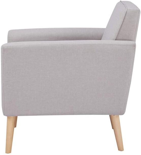 Butaca de diseño gris claro lateral