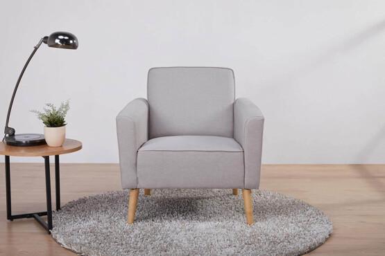 Butaca de diseño gris claro ambiente