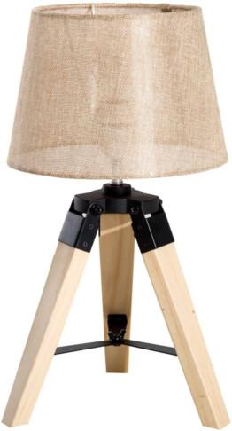 Lámpara de mesa madera