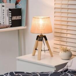Lámpara de mesa madera ambiente