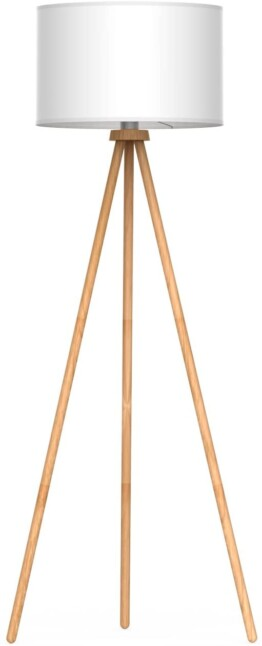 Lampara de pie madera tripode