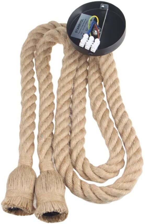 Lámpara colgante industrial cuerda