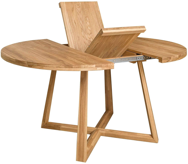 Mesa de comedor extensible patas cruzadas montaje