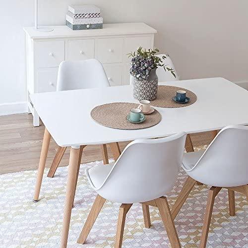 Mesa de comedor blanca ambiente 1