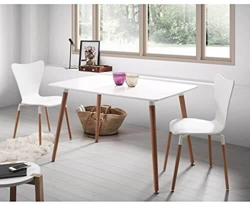 Mesa de comedor blanca ambiente 2
