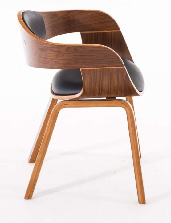 Silla de madera tapizada lateral