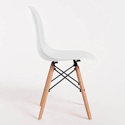 Silla comedor estilo nórdico lateral