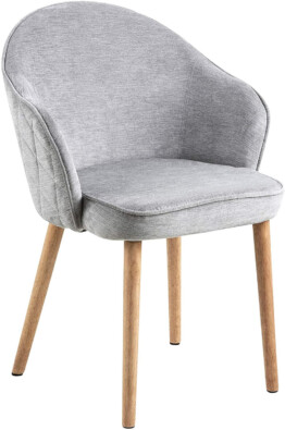 Silla comedor tapizada gris