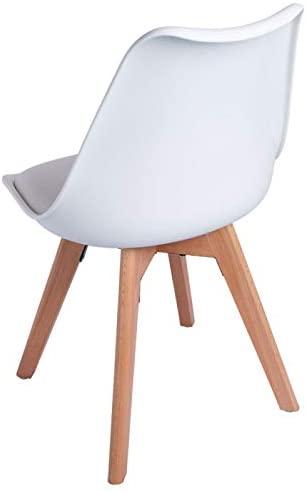 Silla comedor diseño escandinavo trasera