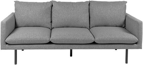 Sofá de 3 plazas Tela Gris Claro Movian ELI frontal