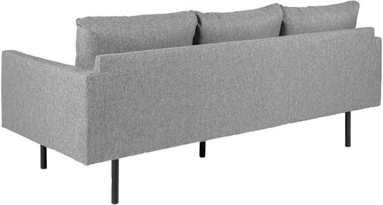 Sofá de 3 plazas Tela Gris Claro Movian ELI trasera