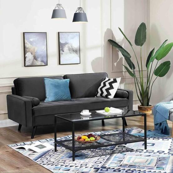Sofa aterciopelado 3 plazas