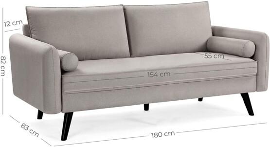 Sofa tela tipo lino color beige